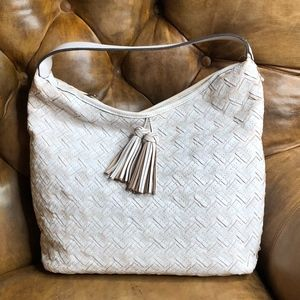 Patricia Nash Leather Braided Stitch Hobo